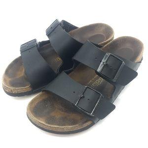 Birkenstock Black Vegan Leather Sandals 37 6